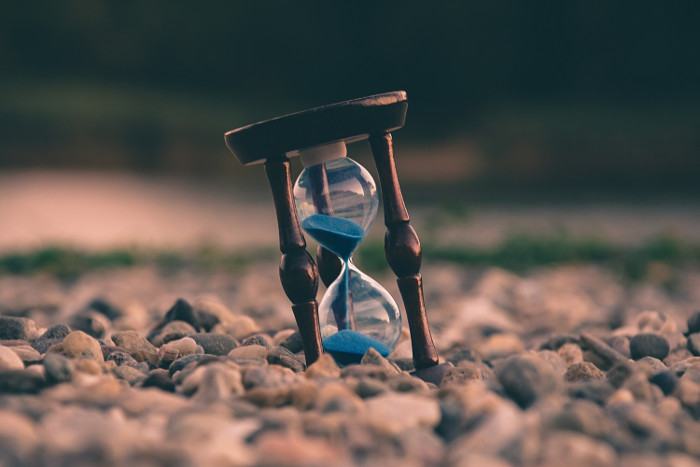 photo of hourglass